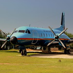 SRI LANKAN AIR FORCE HAWKER HS748 NOW USED AS A RESTAURANT AT THE CATALINA GRILL NEAR KOGGLA AIRFIELD SRI  LANKA JAN2013