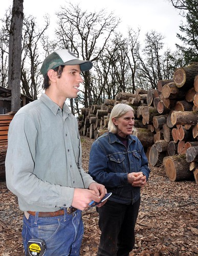 Ben Deumling (left) runs the small specialty milling operation while and his mother Sarah oversees management and timber harvest on their 1,300 acres of forestland.