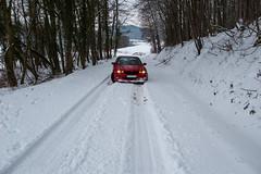Balade dans la neige - Impossible d'aller plus haut, ça glisse !