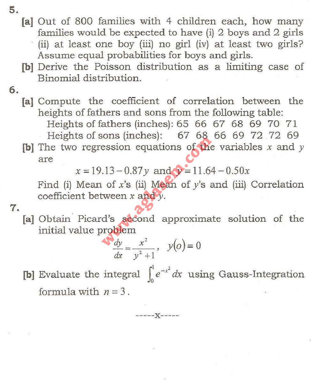 NSIT: Question Papers 2009 – 4 Semester - End Sem - MA-213