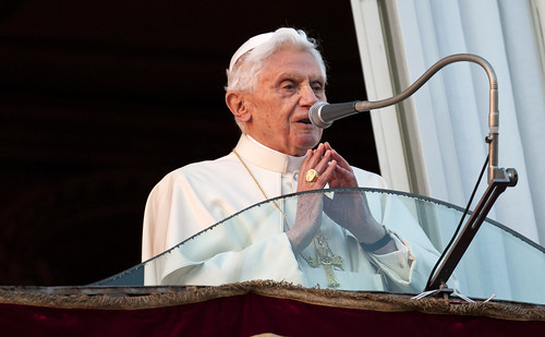 Pope Benedict XVI  in Castel Gandolfo