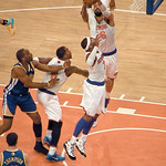 Tyson Chandler And Carmelo Anthony Go For The Rebound