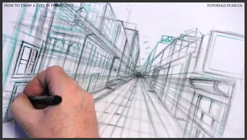 learn how to draw city buildings in perspective 020
