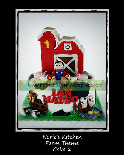 Norie's Kitchen - Farm Theme Cake 2 by Norie's Kitchen