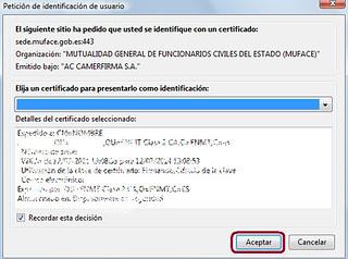 Petición de certificado digital de usuario