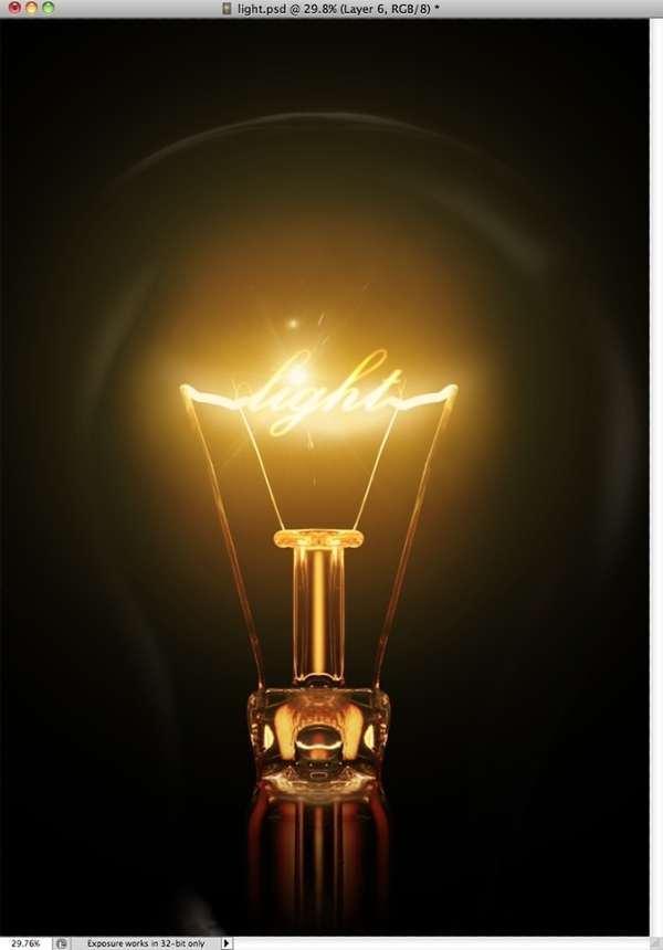 efecto de luz en photoshop