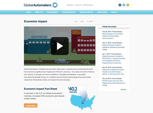 Global Automakers Economic Impact Tool