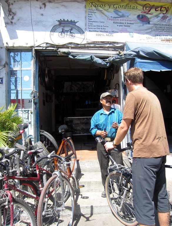Bicycle shop in Ajijic