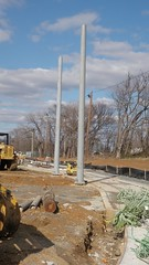 Streetcar pole installation