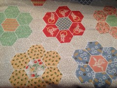 hexagon backing fabric