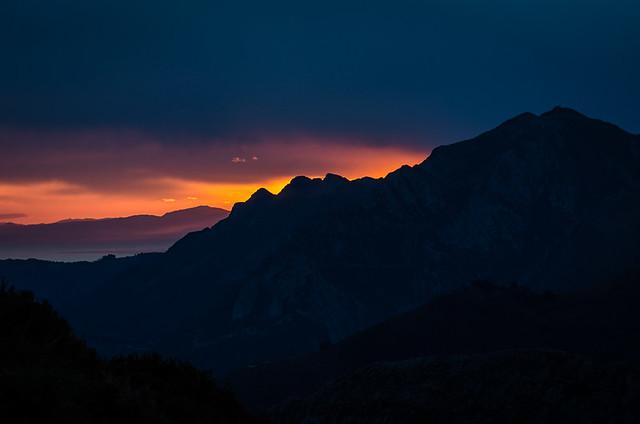 Sunrise from el Mirador del Fito, Caravia, Asturias