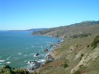 Muir Beach Lookout View, Facing North, Pacific Ocean