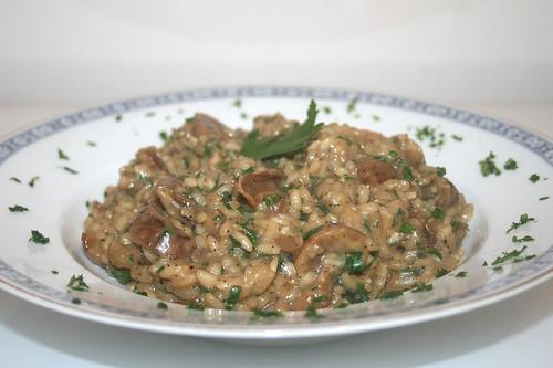 36 - Maronen-Steinpilz-Risotto / Chestnut porcini risotto - CloseUp
