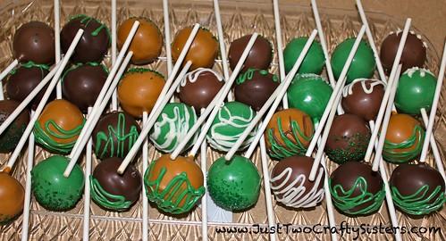 Saint Patrick's Day Chocolate Peanut Butter Cake Pop