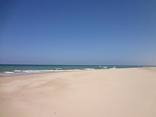 Praia de Baathela na Somalilândia
