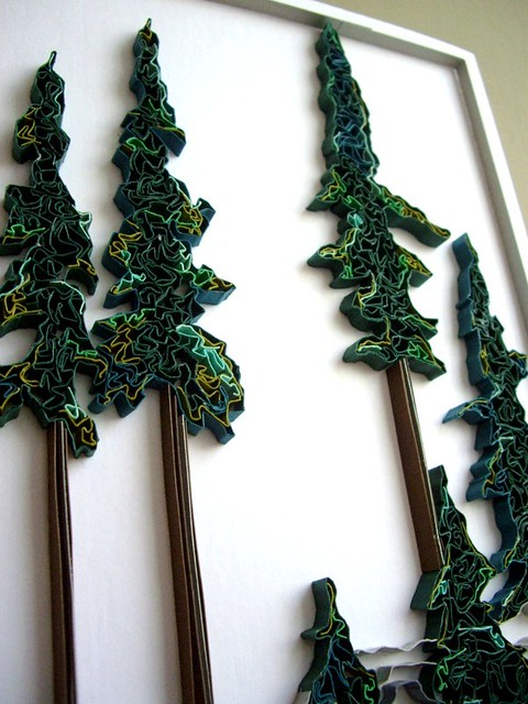 Quilled Trees by Michelle Jamieson