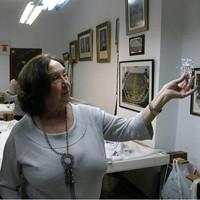 Charo Bernardino en su taller