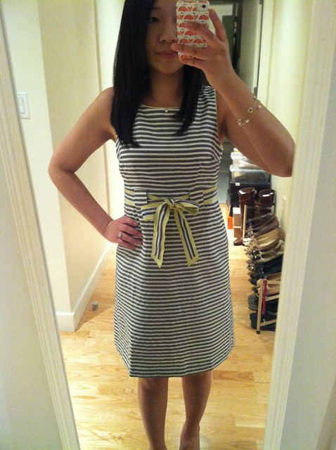 LOFT striped dress, sz 00P