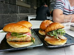 Pork belly and soft-shelled crab sliders AUD12 for…