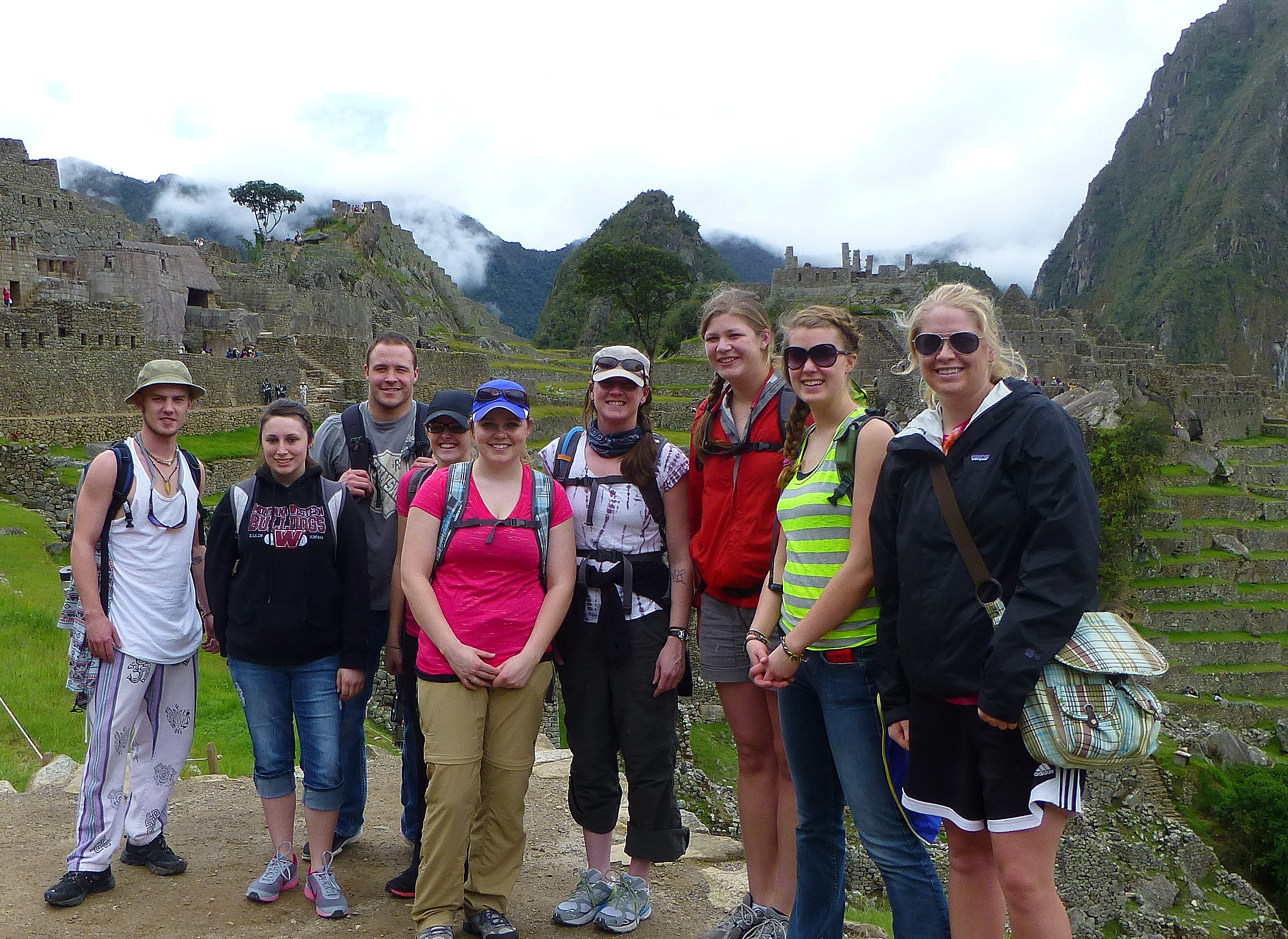 student group in Peru