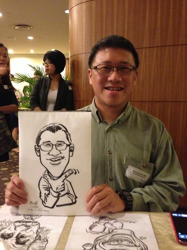 caricature live sketching for South West ComCare Local Network Anniversary Dinner cum ComCare Awards 2013 - g