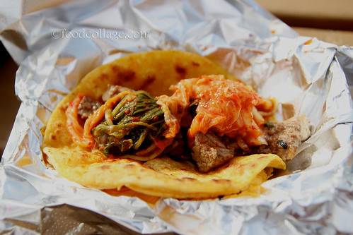 Korean BBQ Beef Taco with Kimchi at Pgh Taco Truck