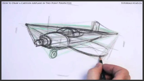 learn how to draw a cartoon airplane in two point perspective 023