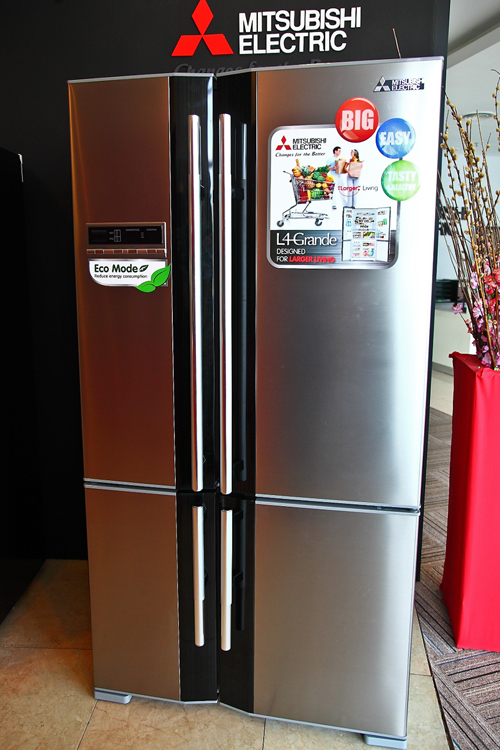Mitsubishi electric l4 grande large french door for 1 door fridge malaysia