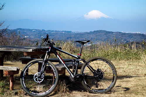 bikie and Fuji-san