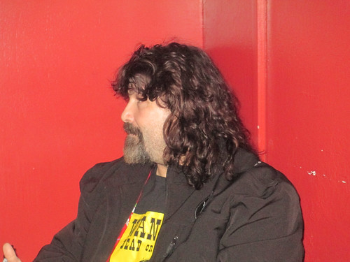 Mick Foley before the show