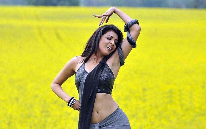 Kajal Agarwal Hot Saree Photos