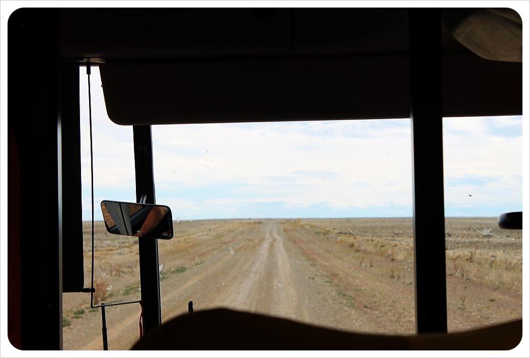 driving through argentina