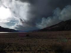 Wildfires, smoke over Loch Sunart