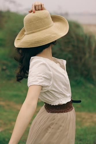 [フリー画像素材] 人物, 女性 - アジア, 帽子, ベトナム人 ID:201304021800
