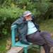 Small photo of Alan Davies, World Birder at rest