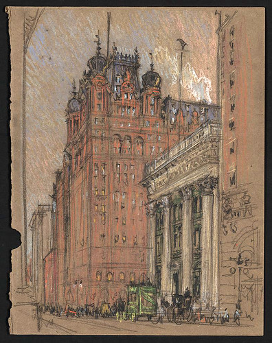 007- Hotel Waldorf Astoria -1904-1908- Joseph Pennell-Library of Congress