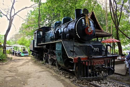 vintage WWII steam locomotive