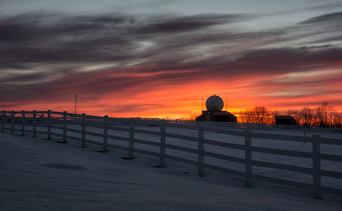 winter sunset sky cloud snow cold field weather fence march maine radome 2013 rx100