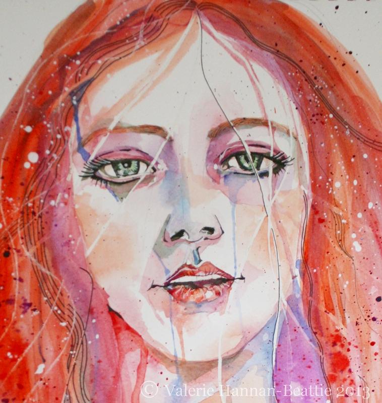 Watercolour Red-Head