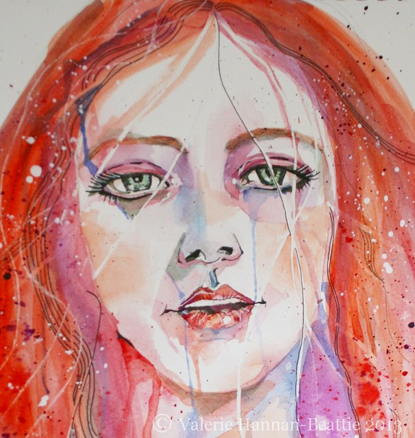 Watercolour Red-Head