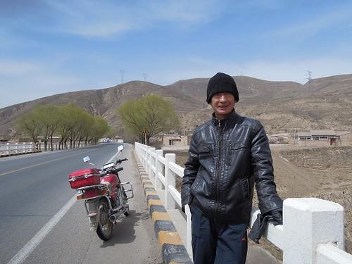 オートバイのおじさん