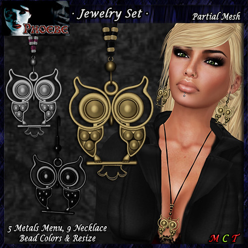 *P* The Owl Jewelry Set ~5 Metals~