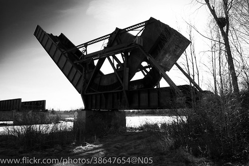 Side view of Scherzer bridge in Smiths Falls