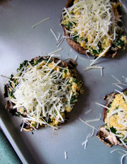 Stuffed Portabella's Topped with Shredded Parm