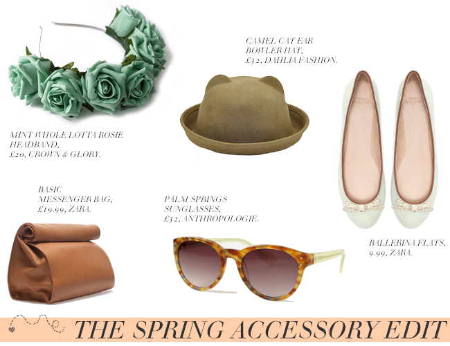 daisybutter - UK Style and Fashion Blog: spring accessories, zara, crown and glory, accessories for SS13, high street trends, bowler hat, zara, dahlia fashion