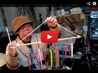 "Homemade Instruments video!""Wind Chimes"" by Kanda Mori"