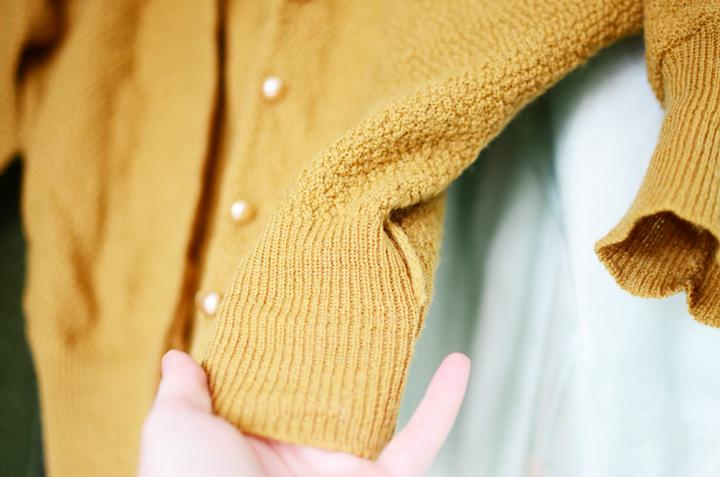 vintage mustard cardigan d