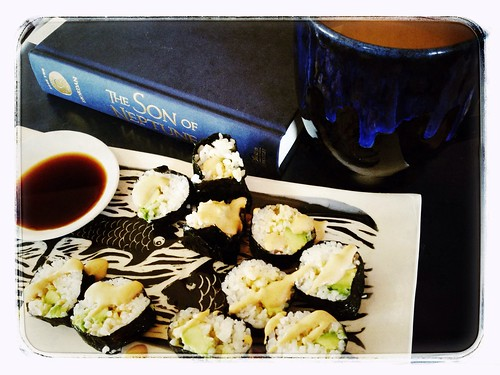 Sushi, tea and reading aloud