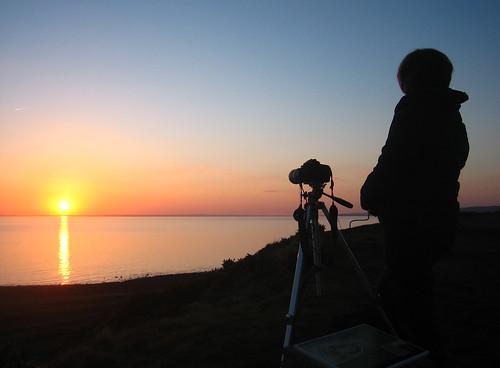 sunset sea canon photographer tripod ixus ixus50 machars lucebay barsalloch