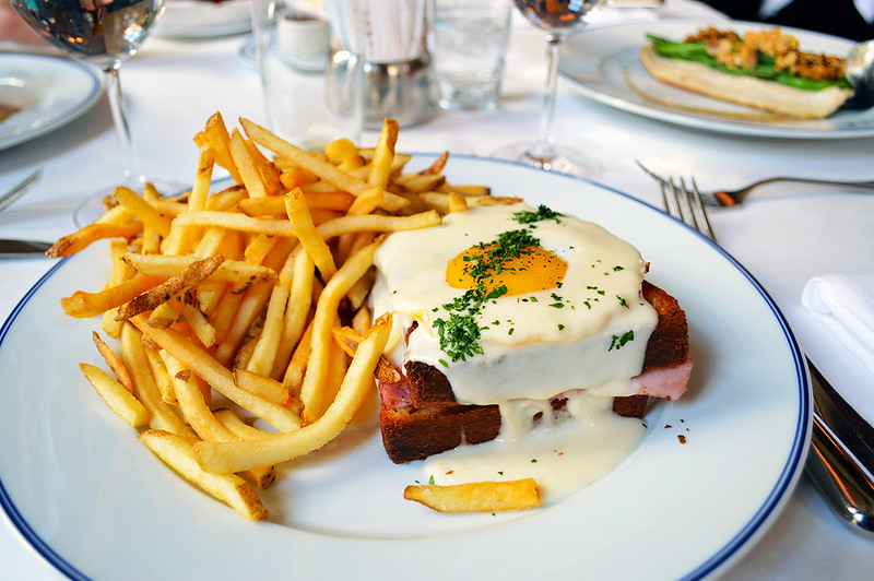 Croque Madam with fries